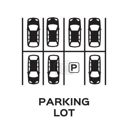 Top View Parking lot design