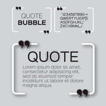 Quote bubble. Empty Citation text box template. Qu...