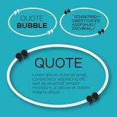 Oval Quote bubbles Speech bubbles Citation text boxes template Quote blanks Applique style commas - origami paper cut forms