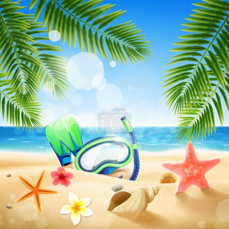 banner for summer holiday vacation