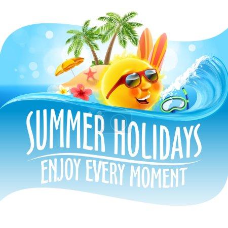 hot summer card