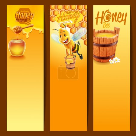 Frames with honey product