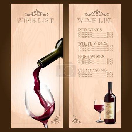 Illustration pour Cadre vin rouge fond - image libre de droit