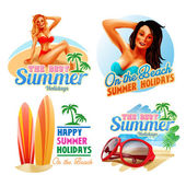 summer stickers  illustration