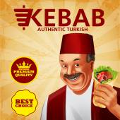 Turkish kebab premium with man