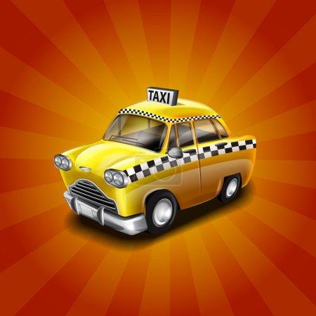 Illustration pour Voiture bannière de taxi, vecteur - image libre de droit