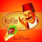 kebab premium with man