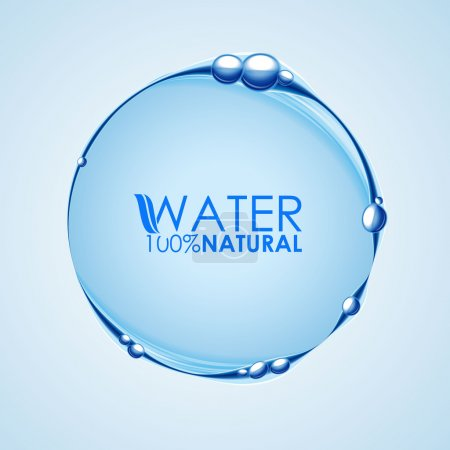 Illustration for Fresh Water Circle background - Royalty Free Image