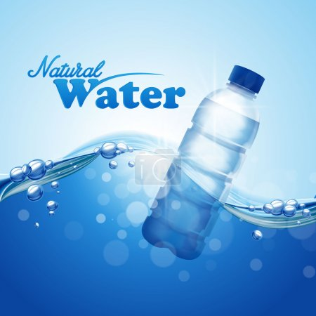 Illustration for Natural water bottle background - Royalty Free Image