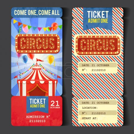 Holiday circus  ticket background,vector...