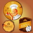 Traditional menu banners ,vector illustration...