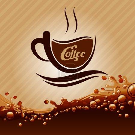 Illustration pour Menu café arrière-plan - image libre de droit