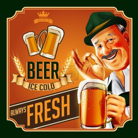 Illustration pour Allemagne fond de bière, vecteur - image libre de droit