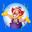 CLOWN holiday background,vector...