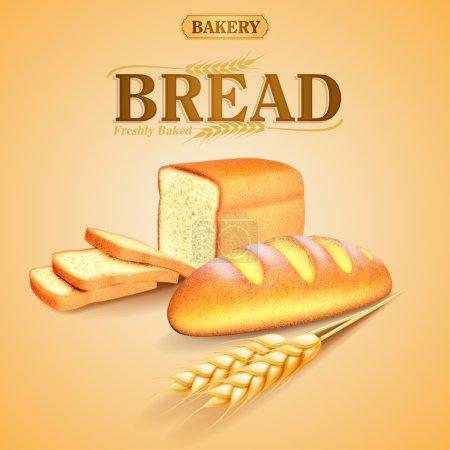 Illustration pour Fond de bannière de boulangerie, vecteur - image libre de droit