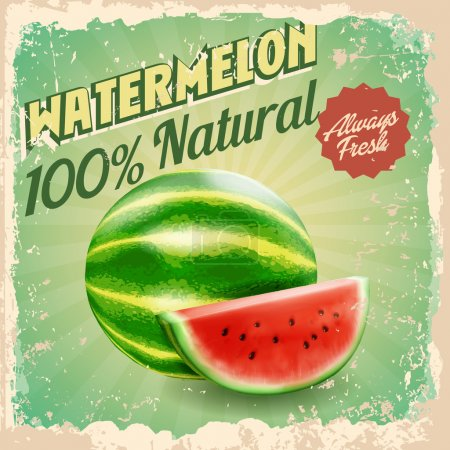 watermelon vintage food background