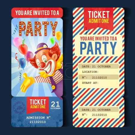 Illustration for Holiday circus  ticket background,vector - Royalty Free Image