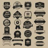 Vector Quality guarantee badges collection