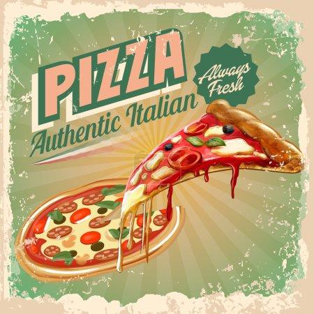 Illustration pour Pizza nourriture fond - image libre de droit