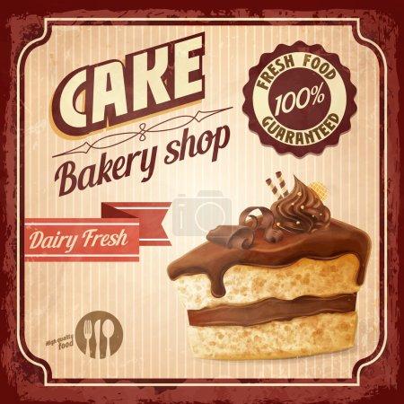Illustration pour Gâteau, fond de boulangerie, vecteur - image libre de droit