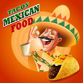 chef of mexican food tacos