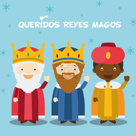 Three Wise Men vector illustration