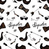 Seamless Vintage Hipster Pattern