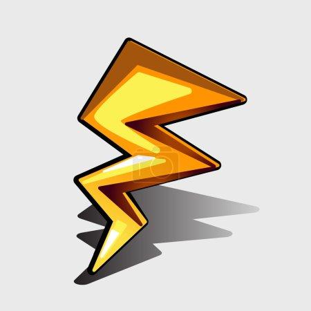 Illustration for Vector lightning bolt, zig-zag shape for games and other design needs - Royalty Free Image