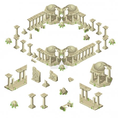 Ruins of the city in ancient Greek style