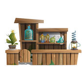 Alcoholic bar with exotic drinks and potions