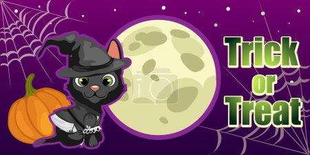 Halloween card. trick or treat