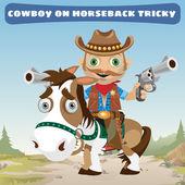 Kovboj jezdec na koni tricky na divoký západ