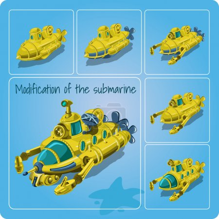 A set of different submarines