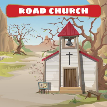 Old roadside Church in the wild West