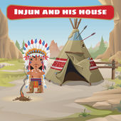 The leader of the Indians with tepee