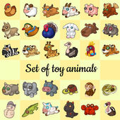 Big set of soft toy animals 30 different icons