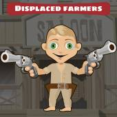 Fictional cartoon character -  displaced farmers