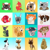 Great set of icons with different animals