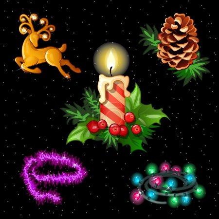 Christmas set for your design needs, 5 items