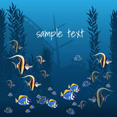 Marine life in bright colors and sample text