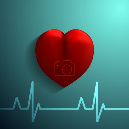 Healthy Heart  icon on blue background