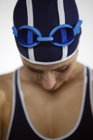 portrait of professional swimmer