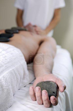 massage in spa salon