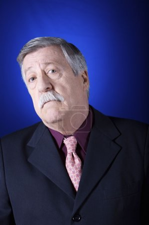 senior man with moustashe