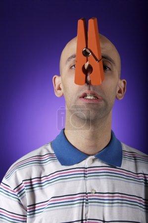 funny bald man