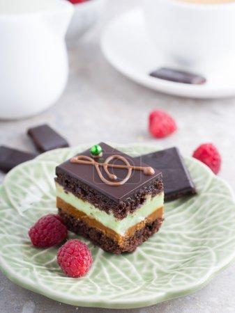 Pastel de pistacho de chocolate