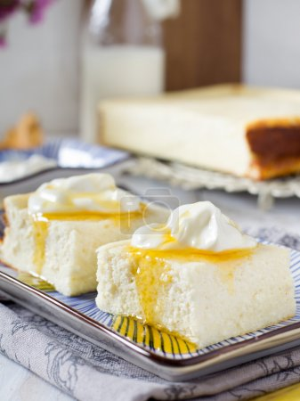 Cottage cheese casserole with sour cream