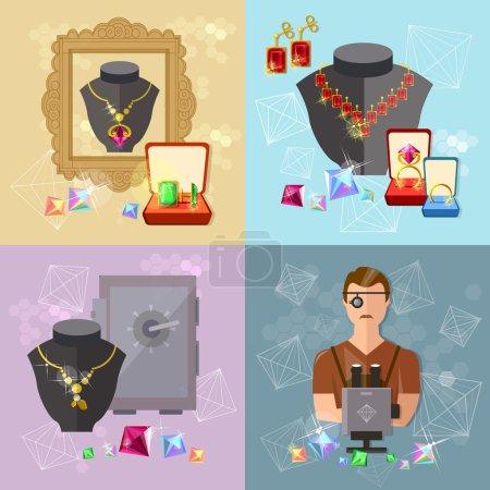 Jewelry set precious jewels jewelry store gems jeweler work