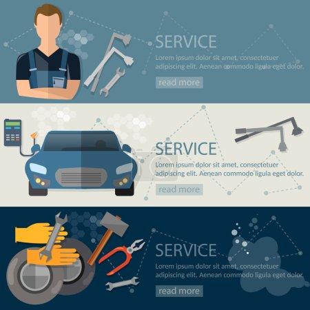 Auto service banner auto repair tire service