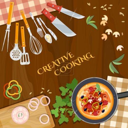 Illustration pour Illustration vectorielle de la cuisine créative - image libre de droit
